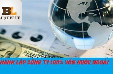 Thành lập công ty có 100% vốn đầu tư nước ngoài.