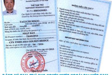 Thủ tục đăng ký tạm trú cho người nước ngoài tại Việt Nam