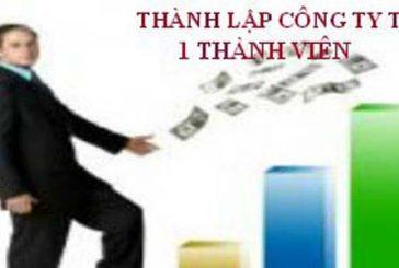 Thủ tục thành lập công ty TNHH một thành viên