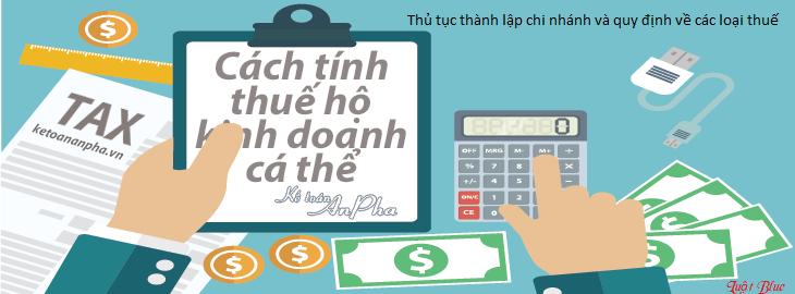 Thủ tục thành lập chi nhánh và quy định về các loại thuế (nguồn internet)