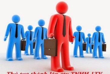 Hướng dẫn thủ tục thành lập công ty TNHH 1 thành viên